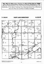 Hart Lake T144N-R32W, Hubbard County 1992 Published by Farm and Home Publishers, LTD